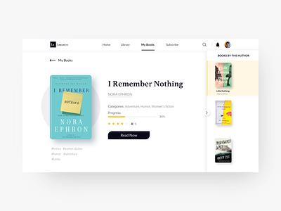 Reading Website - Librarium freelance simple sketch interface book web design website web desktop typogaphy design logo ui ux reading