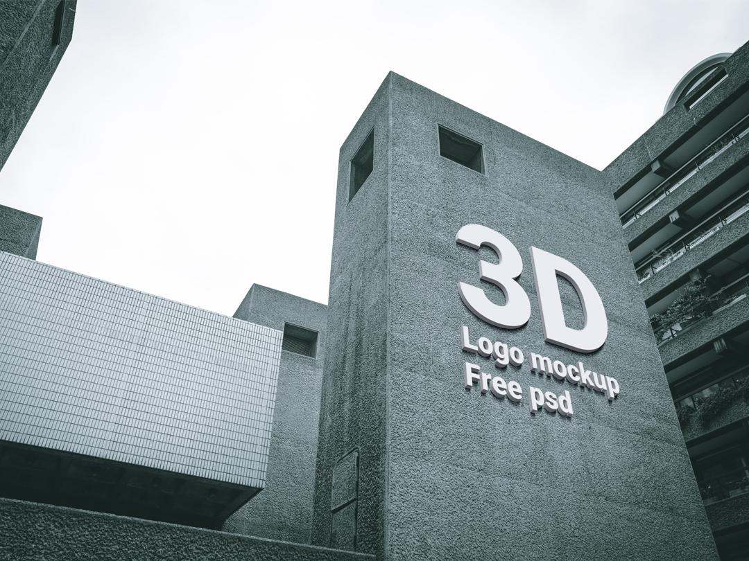 free 3d logo psd mockup mockuphero dribbble