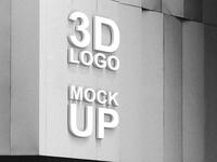 Free 3d logo psd mockup vol2