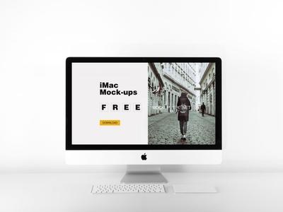 iMac psd mockup - free psd