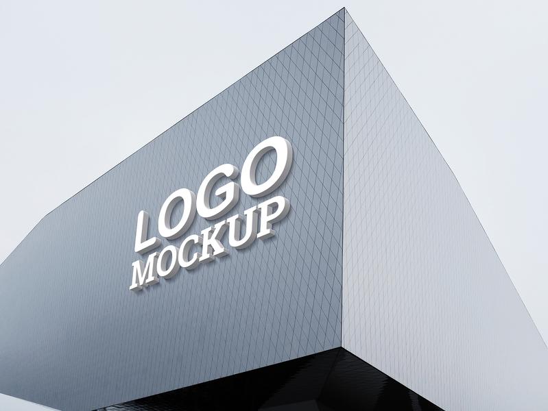 3d logo mockup v3 - free psd by MockupHero on Dribbble