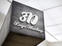 3d logo mockup v4 - free psd