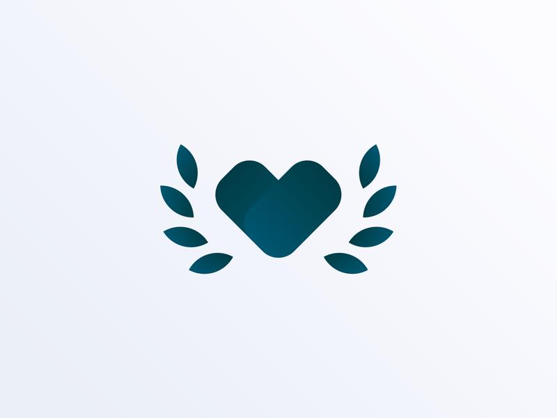Apollo En Coeur Logo olive branch olive apollo branch heart app icon vector ux ui branding logo