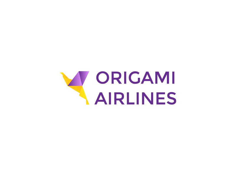 Origami Airlines logo origami airline branding