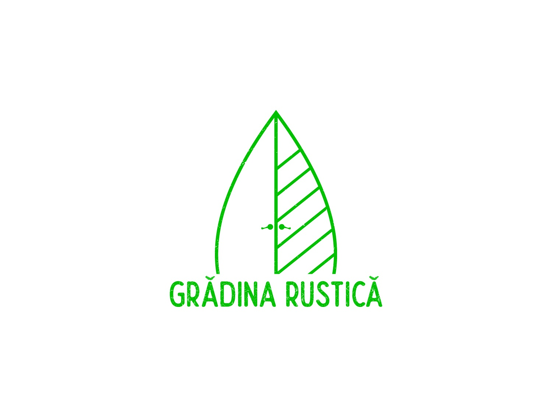 Gradina Rustica Branding nature garden leaf branding logo