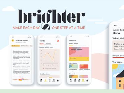 UX Project: brighter app typography ux branding logo ui