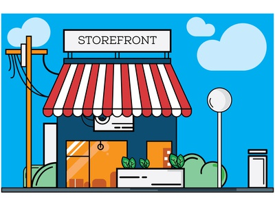 Illustration of storefront