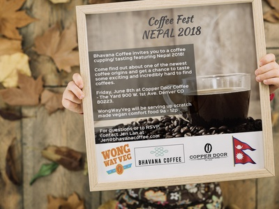 Poster Coffee Fest NEPAL 2018