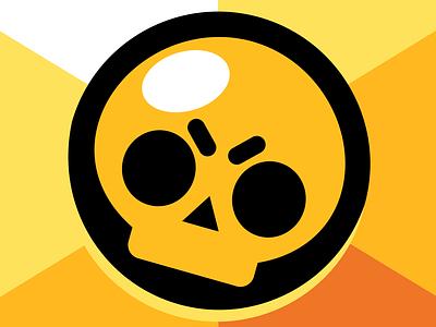 Brawl Stars skull logo skull brawl stars game art app branding vector logo ux