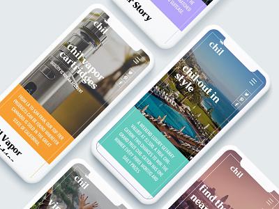 Chil UI/UX Design photography mobile design development ux ui web design