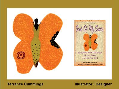 Black Butterfly by Terrance Cummings illustrator branding design illustration logo romance illustrator icon flat book cover