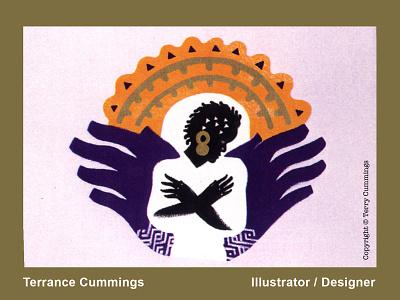 ebony angel DRIBBLE 2020 08 01 terrancecummings terrancecummingsstudio terrycummingsdesign flat icon editorial illustration design logo romance illustration illustrator book cover