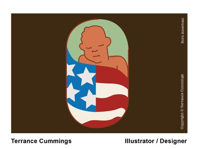 Born American vector terrycummingsdesign nyt thenewyorktimes thenewyorker icon illustration terrancecummingsstudio terrancecummings design illustrator editorial illustration