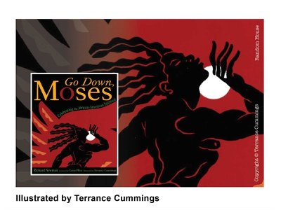 Go Down Moses. Published by Random House Books branding editorial spiritual design illustraion book cover richard newman terrancecummings illustration terrancecummingsstudio editorial illustration cornel west illustrator