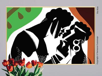 The Kiss creative design painting illustration terrancecummings diversity prints fineart romance love