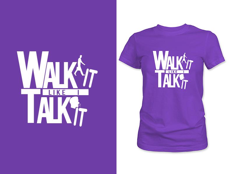 T-Shirt Design 2 colors 2019 trend fashion girls talk walk creative fun