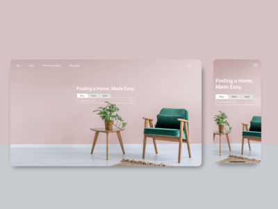 Minimalist Home Search Web App Homepage