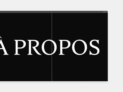 Atelier la coulée - About minimal typography web ux webdesign website minimalistic clean elegant ui design