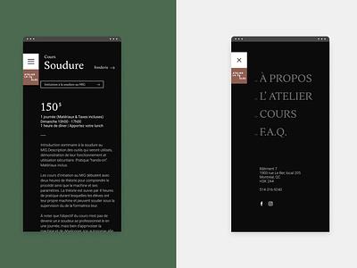 Atelier la coulée - Responsive responsive elegant ux ui minimalistic minimal webdesign web website typogaphy clean