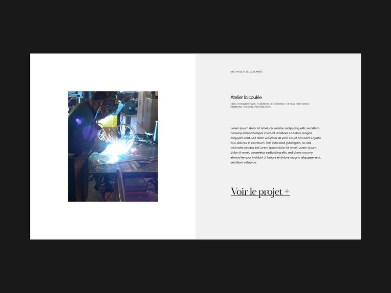 Project overview typogaphy layout design webdesign minimal web ux ui minimalistic elegant