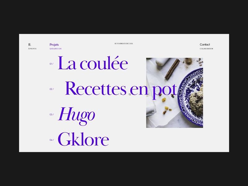All projects page layout typogaphy webdesign minimal web ux ui minimalistic elegant design