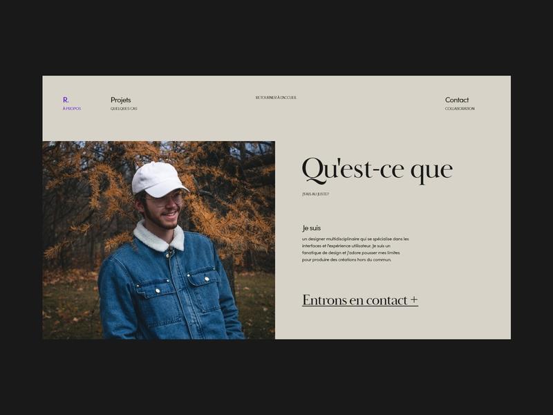 About page layout typogaphy design webdesign minimal web ux ui minimalistic elegant