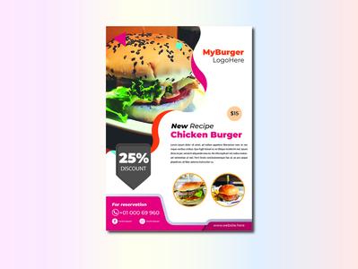 Chicken Burger Brochure Template