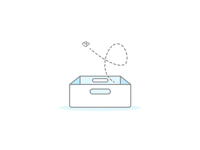 Empty Box flat clean monocolor illustration fly box empty state