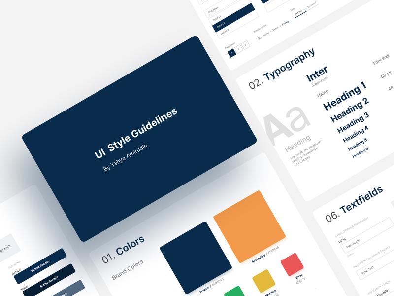 UI Style Guidelines minimalist brand guidelines ui guide styleguide guidelines uidesign colorscheme forms typography web simple branding clean ux ui minimal flat design