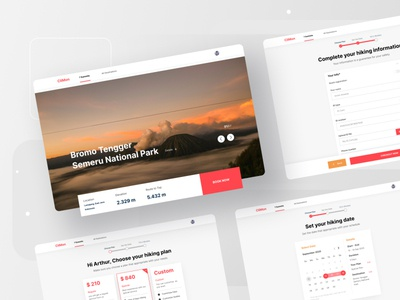 Climon - Plan your hiking easily form design holiday traveling climbing hiking trip plan hierarchy typogaphy website web simple mountains mountain clean ux ui minimal flat design