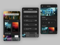 Dark App Music Player