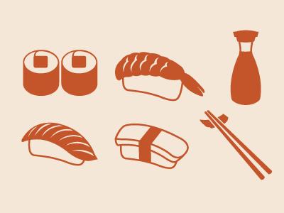 Sushi Icons sushi icons nigiri japanese