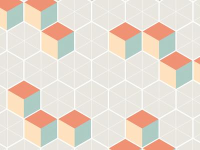 Japanese Pattern: Winter japanese pattern geometric cube winter