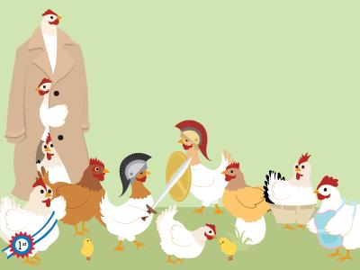 Chickens Illustrations chickens illustration chicks eggs gladiators
