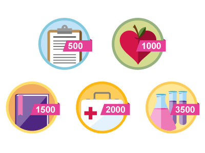 Donation Badges badges icons health donation