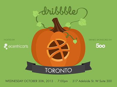 Dribbble Toronto Meetup meetup toronto halloween pumpkins