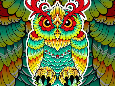 Neo Traditional Owl