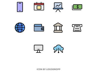 School Icon Set web app illustration minimal flat icon icon design ui  ux ui icon set webdesign icon