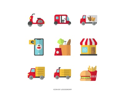 """Flat icon """"Delivery Product"""" For Website Or App flat icon vector ui logo minimal icon"""