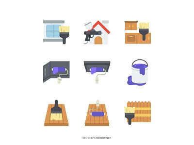 Flat Icon Theme Construction logo web design icon app ui vector design icon