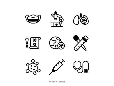 Pandemic Covid-19 Icon Set medic health icon ui vector icon icon outline icon set mask corona covid19 pandemic