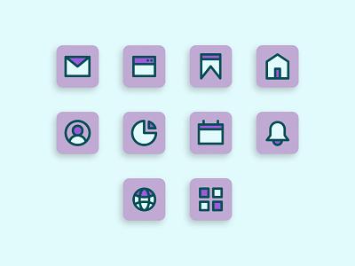 Set Icon Filled line Color - Ui Icon Design flat icon solid icon minimalist icon icon set outline icon mobile app mobile icon ux ui vector icon