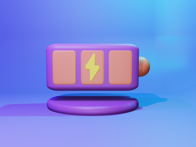 3D Icon Battery battery icon mobile app 3d object 3d 3danimation 3d icon logo ui graphic design illustration minimal design icon