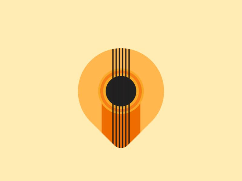 Pick Guitar illustration minimal brand product guitar identity creative design logo business