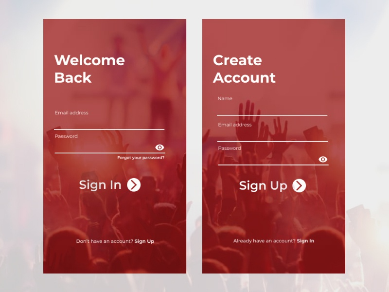 SIGN IN / SIGN UP ui design uiexploration design app ux ui