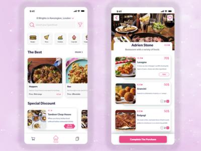 Food Delivery App food uidesign uiuxdesign adobexd uidesign fooddelivery app designwich designchallenge ux ui design