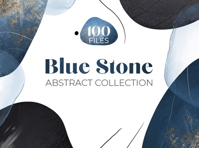Blue abstract graphic collection