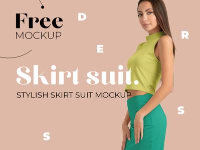 Women's Elegant Skirt Suit Mockup Set