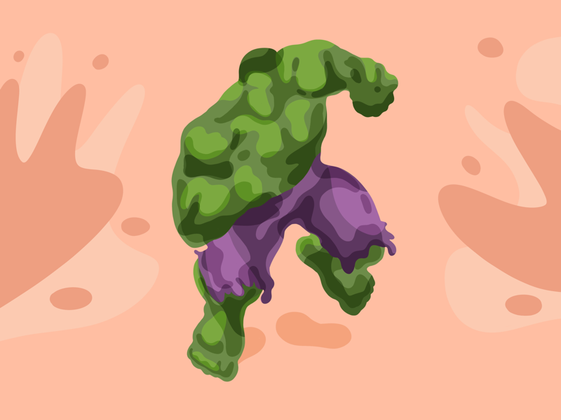 Unleash the fury graphic illustration shapes simple green marvel superhero hall