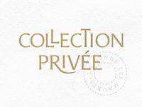 "Wine Label Logo ""Collection Privée"""